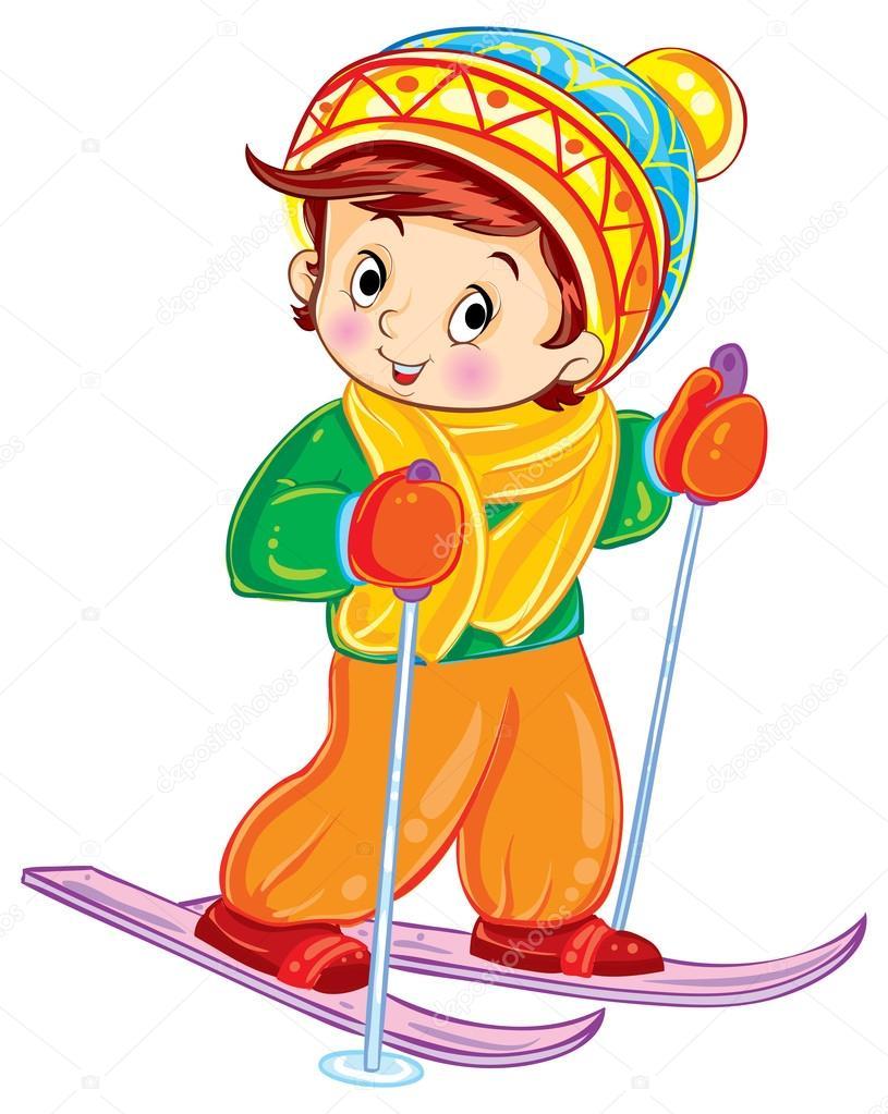 Výsledek obrázku pro lyžování kreslené