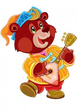 Bear with balalaika