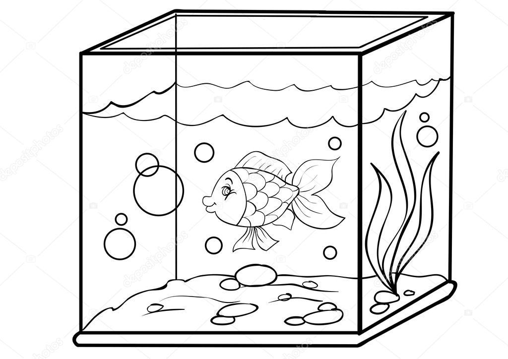 Facbawc39 Fish Aquarium Clipart Black And White Car Today 1580859482