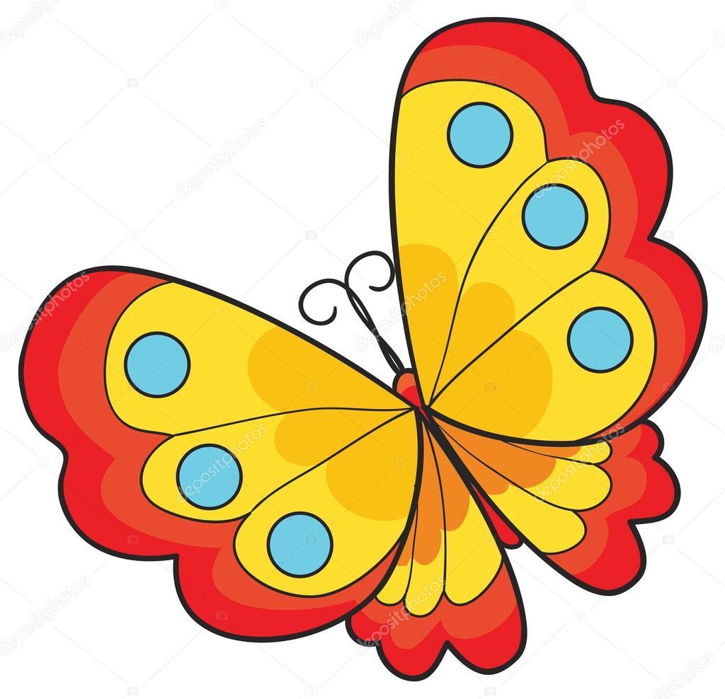 ilustración de mariposa de dibujos animados archivo imágenes
