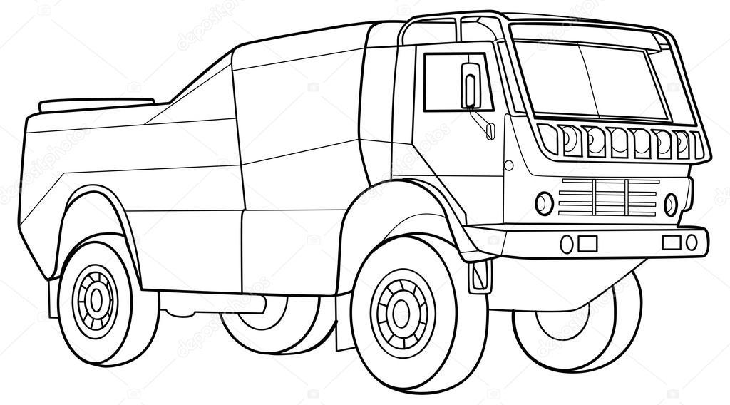 LKW, Skizze Abbildung — Stockvektor © Kopirin #68546077