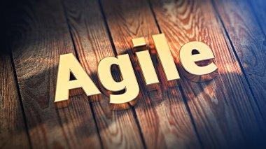 Word Agile on wood planks
