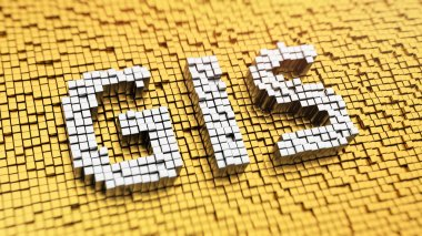 Pixelated GIS word