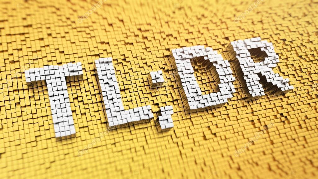 Pixelated TLDR acronym \u2014 Stock Photo © timbrk #109911618