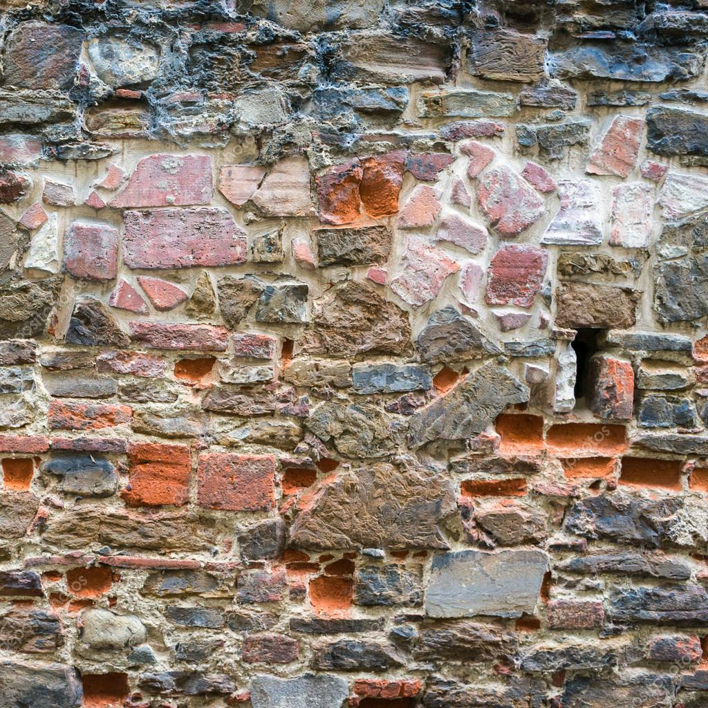 Textura de pared de piedras y ladrillos rojos foto de - Ladrillos de piedra ...
