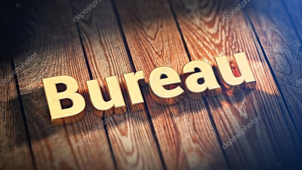 Bureau de palavra em pranchas de madeira u stock photo timbrk