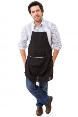 young man with apron