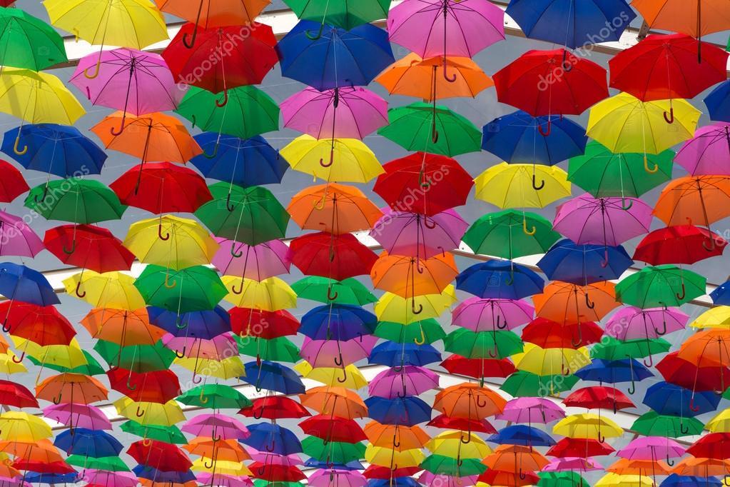 Kleur Veel Kleur : Veel van paraplus kleuren van de hemel u2014 stockfoto © hsfelix #80869416