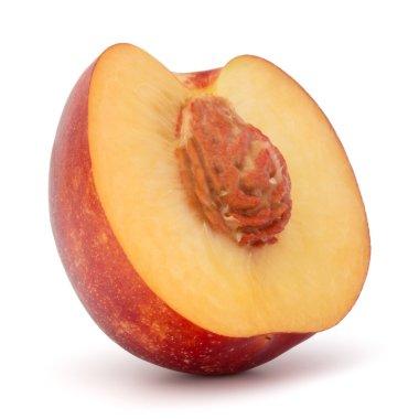 half of nectarine fruit