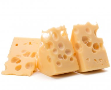 fresh cheese blocks