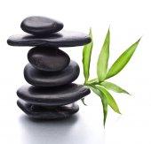 Zen pebbles balance.