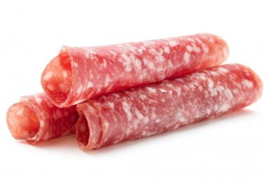Salami sausage slices