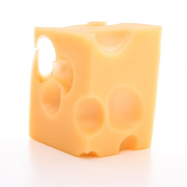 swiss cheese cube