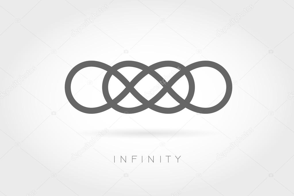 Limitless Icon Simple Mathematical Sign Stock Vector Prezent