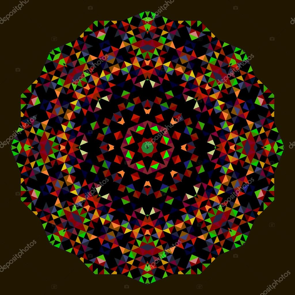 Abstract Flower. Creative Colorful style vector wheel. Red Green ...