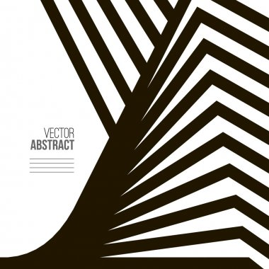 Geometric Vector Black and White Background. Architecture and Co