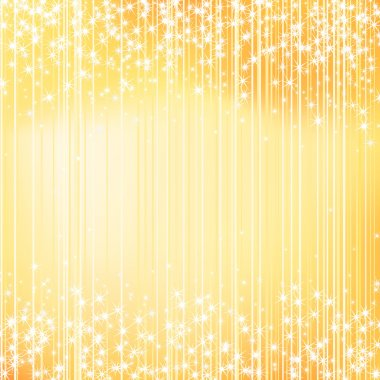 Bright golden holiday background with stars