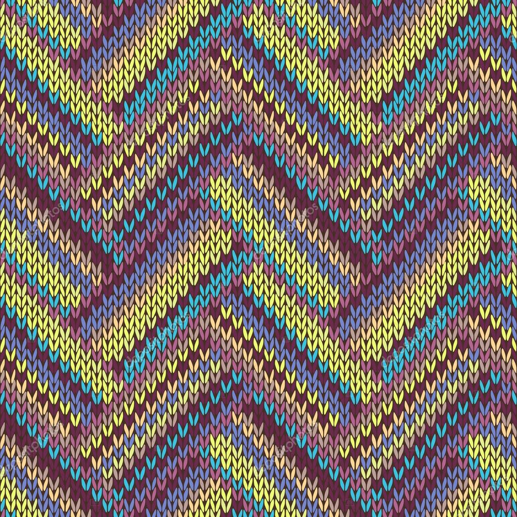 Seamless knitted pattern. Multicolored repeating tribal template ...