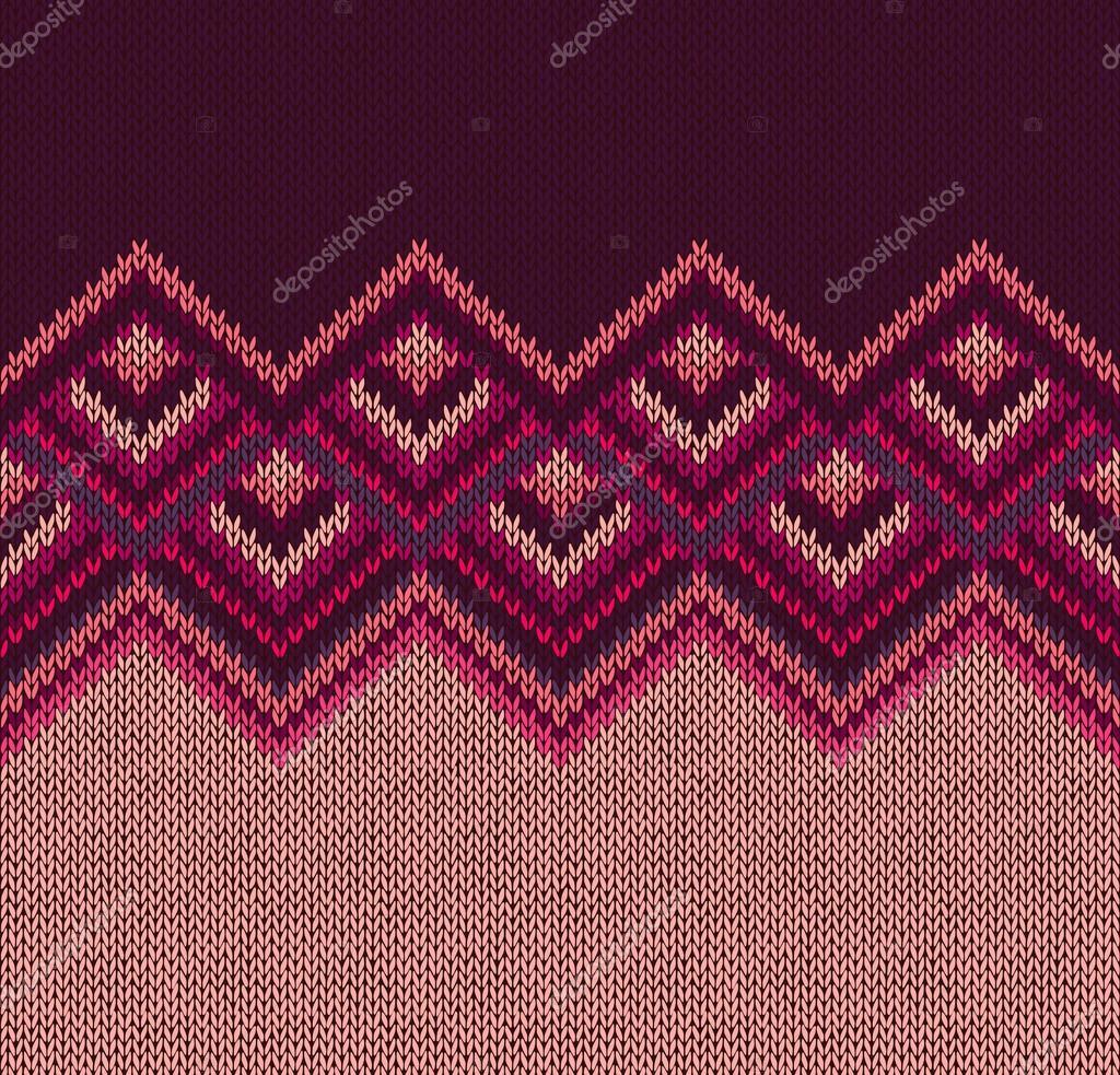patrón de hermosos tejidos, rosa rojo tejer estilo v inconsútil ...