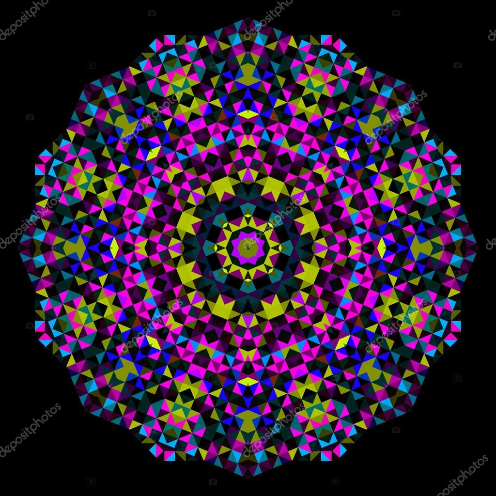 Abstract Flower Creative Colorful Style Vector Wheel Cyan Mage