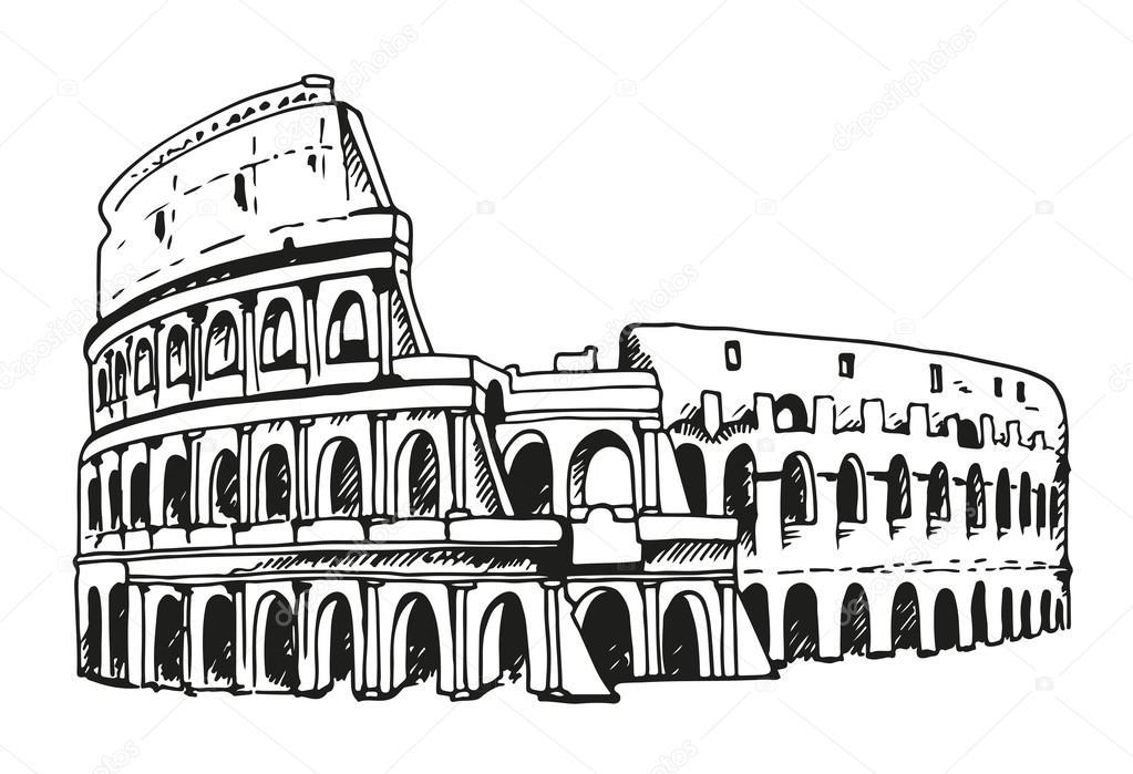 Dibujos Dibujo Coliseo Romano Dibujo Del Coliseo Ilustración Del