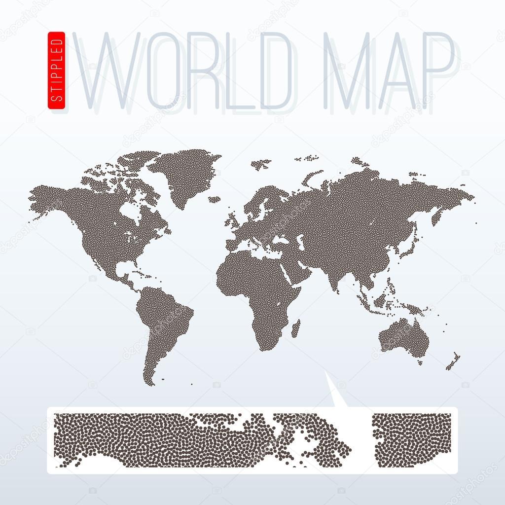 Stippled world map vector illustration archivo imgenes stippled world map vector illustration archivo imgenes vectoriales gumiabroncs Images