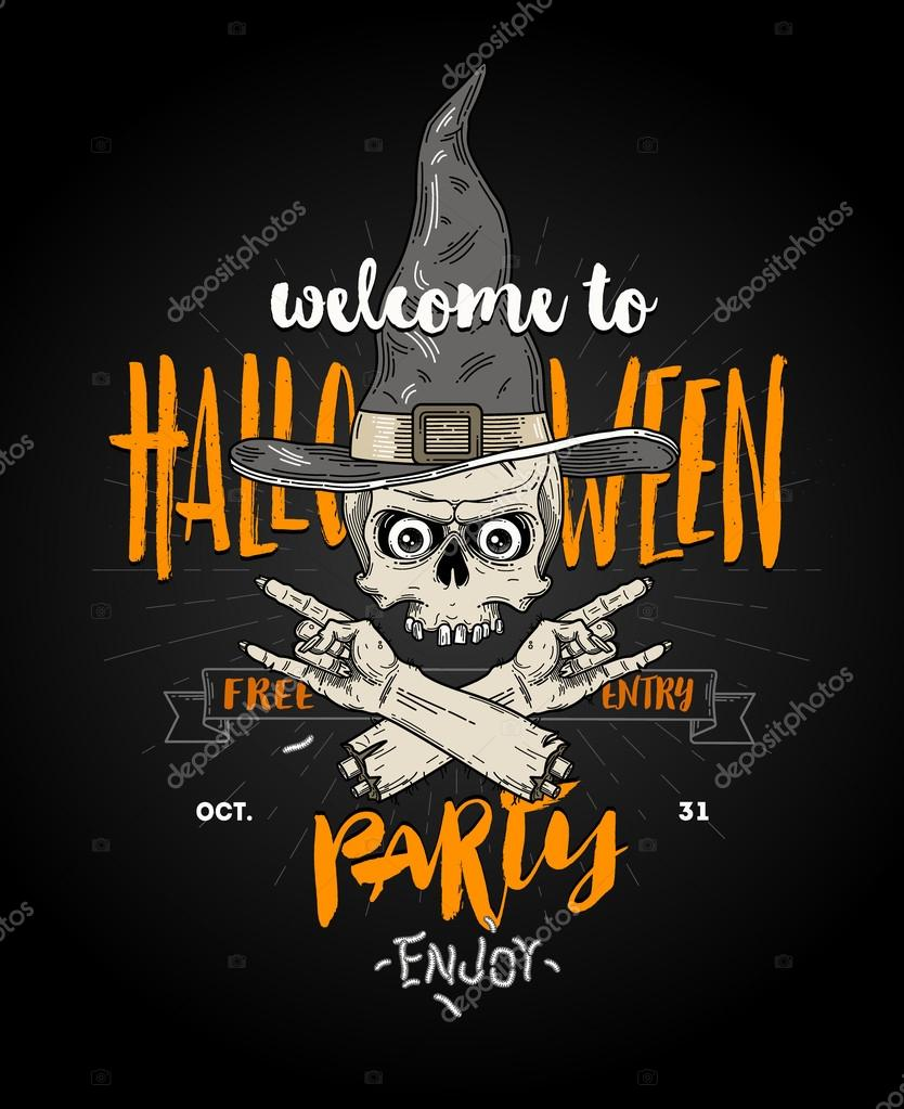 Citaten Kunst Zombie : Halloween poster met zombie hoofd in heks hoed en afgehakte hand