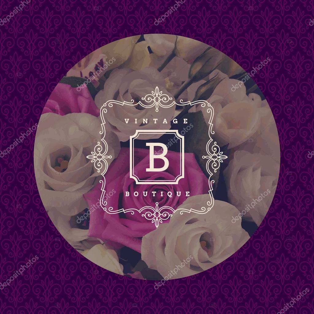 Plantilla de logotipo monograma con florece ornamento for Disenos para boutique