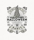 Fotografia Linea arte vettoriale illustrazione per la festa di Halloween