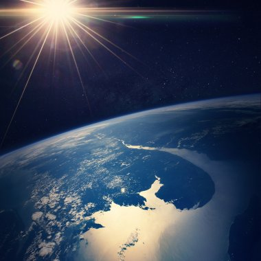 Earth view from space Elements of this image furnished by NASA