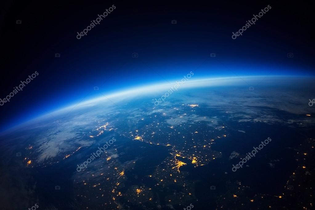 Near Space photography 20km above ground real photo Elements of this image furnished by NASA