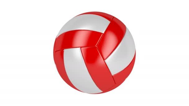 Červené a bílé volejbalový míč