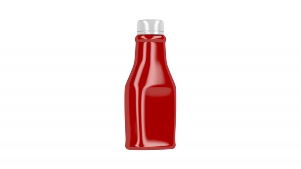Plastic bottle of ketchup