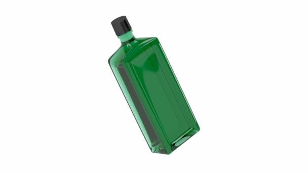 Zöld alkohol üveg