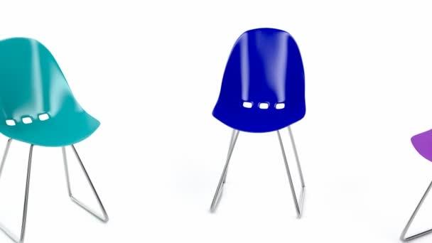 sedie di plastica colorate — Video Stock © magraphics #68969839