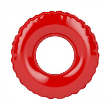 Red swim ring isolated on white stock vector