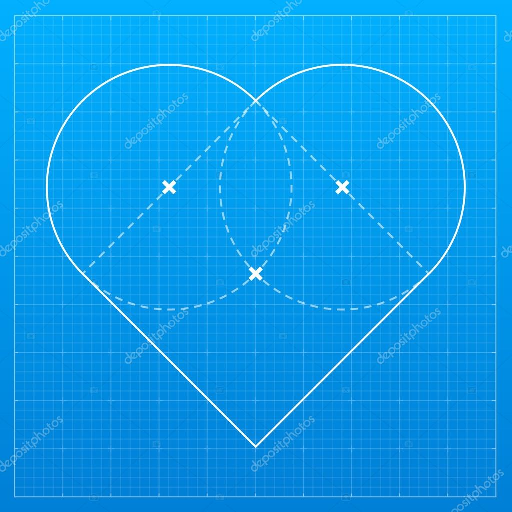 Heart on blueprint paper stock vector jakegfx 111552118 heart on blueprint paper vector illustration vector by jakegfx malvernweather Images