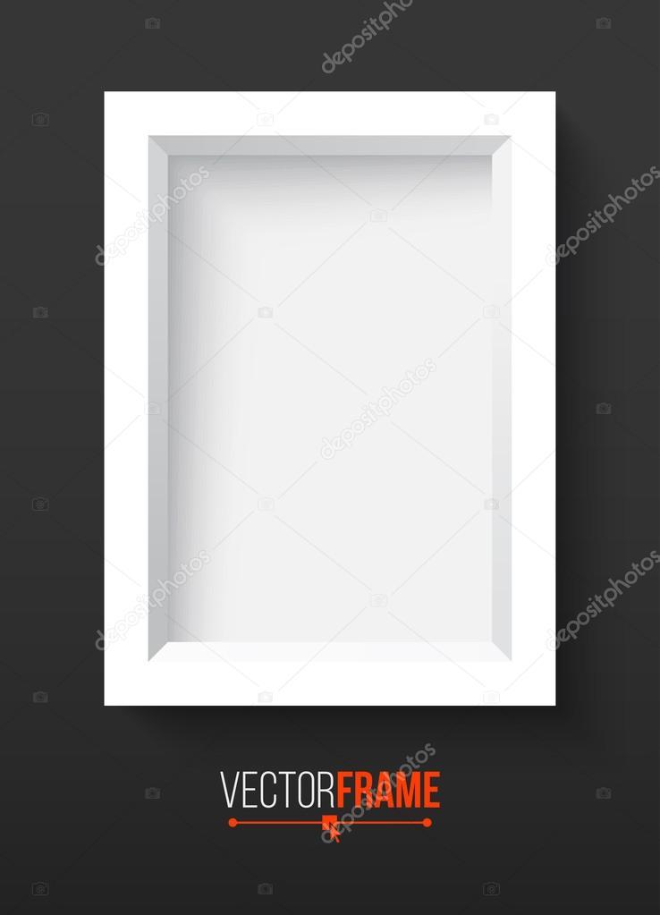 diseño de marco de foto 3D — Archivo Imágenes Vectoriales © jakegfx ...