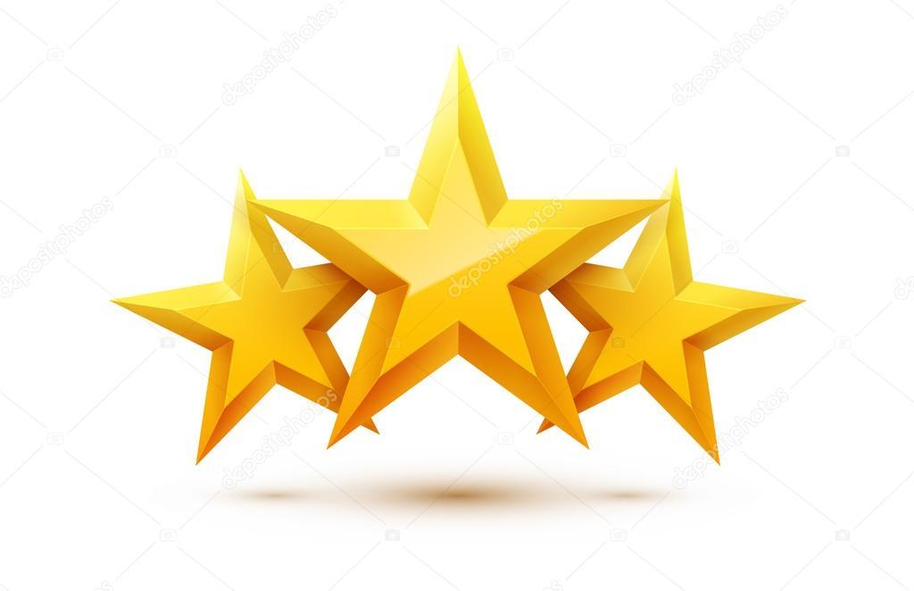 Tr s estrelas douradas vetores de stock jakegfx 111584090 for Tre stelle arreda beinasco