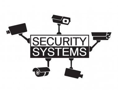 Logo design element Security systems