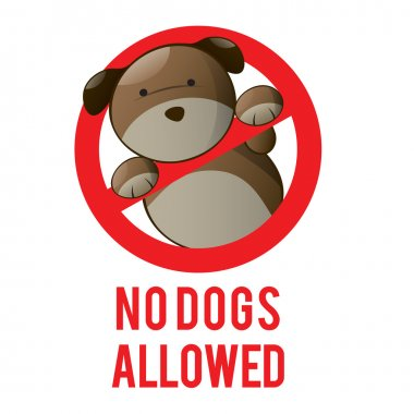 Logo design element No dogs allowed sign