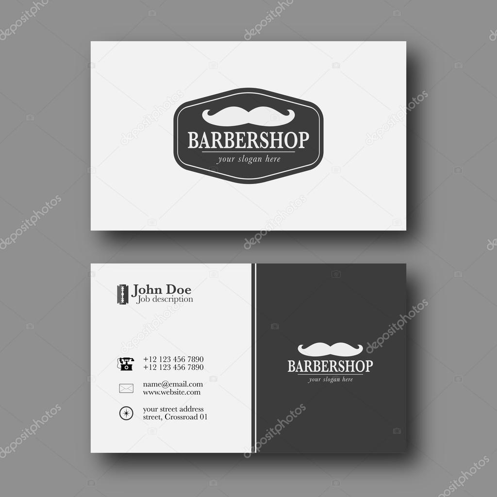Barber shop business card template — Stock Vector © zzoplanet #91581848