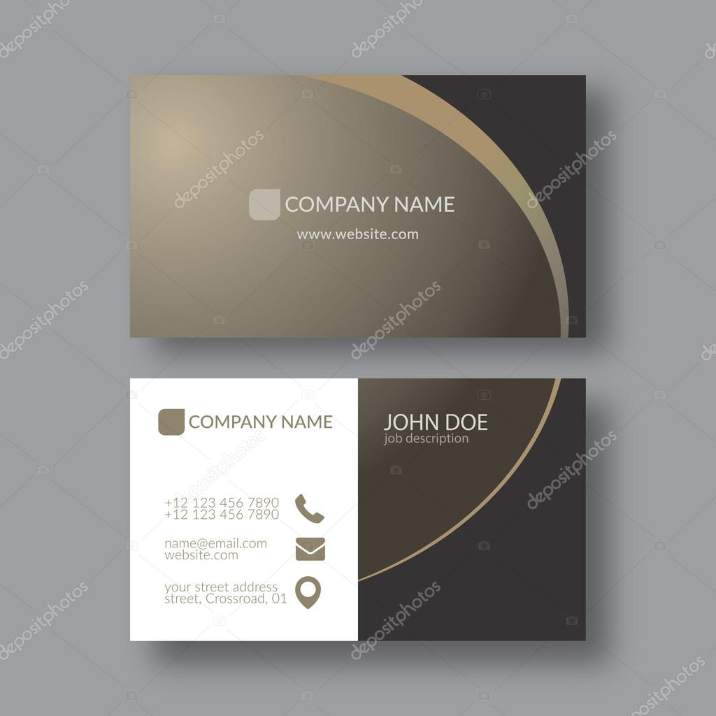 Elegant Business Card Template — Stock Vector © zzoplanet #91582358