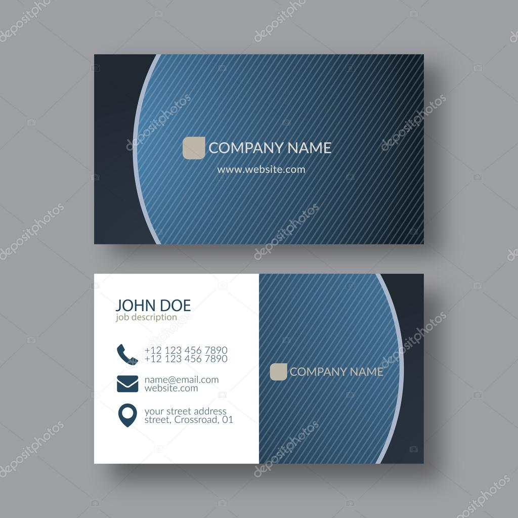 Elegant Business Card Template — Stock Vector © zzoplanet #91582470