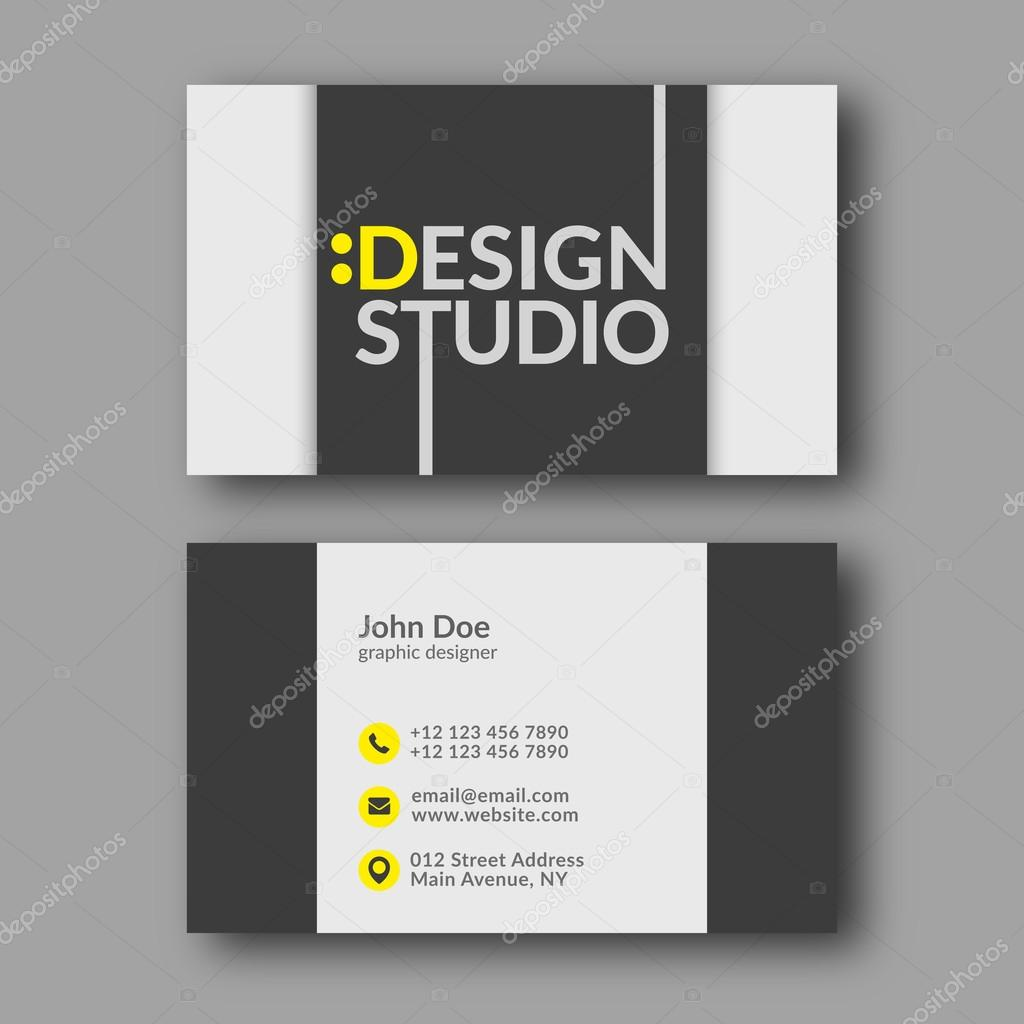 Design studio business card template stock vector zzoplanet abstract modern business card template vector illustration vector by zzoplanet colourmoves