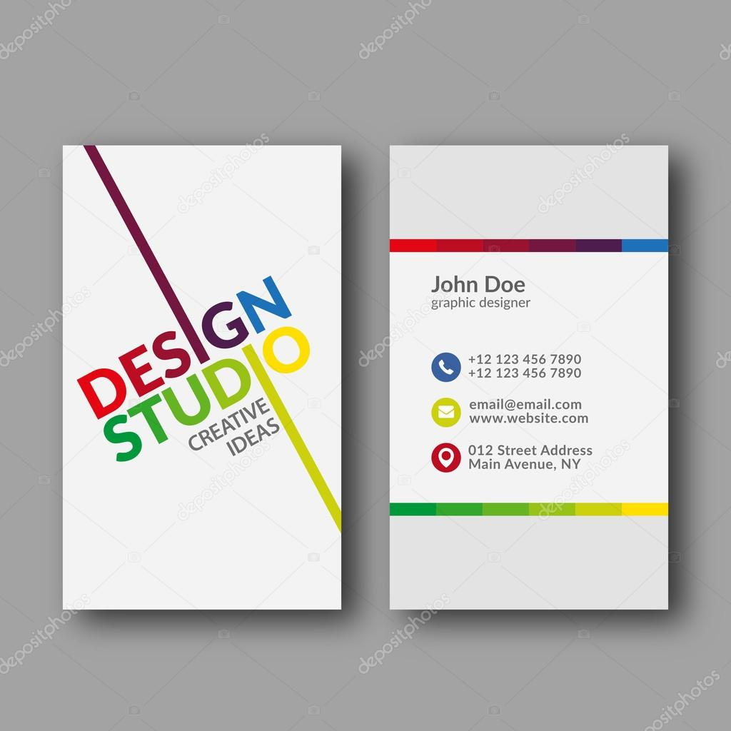 Design Studio Business Card Template — Stock Vector © zzoplanet ...
