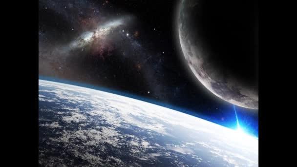 Země a jeho měsíc