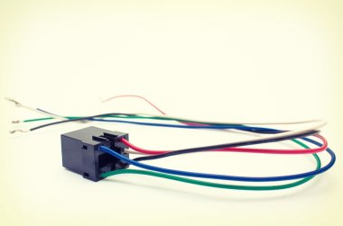 Vintage background, relay and wires