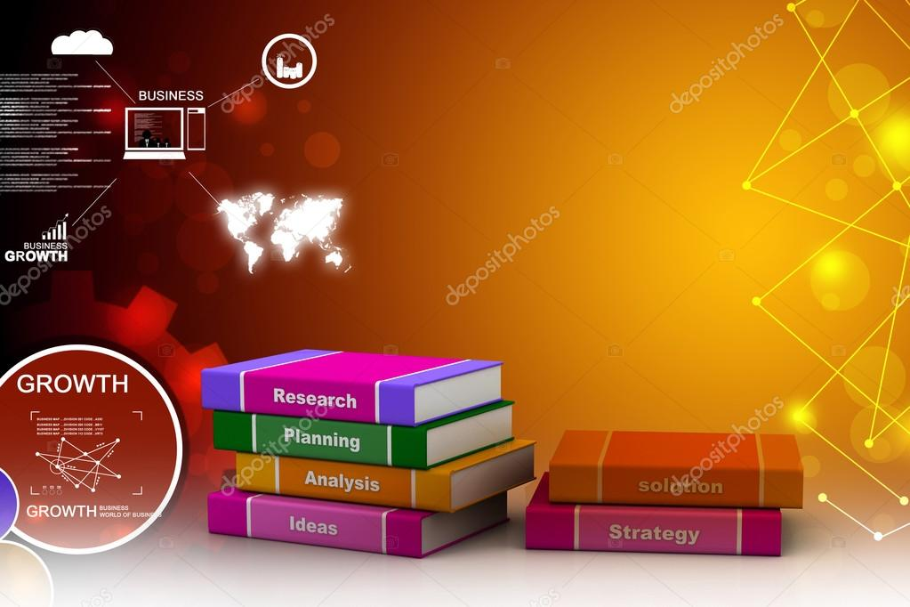 Business book. 3d rendered image
