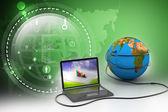 globální internet koncept
